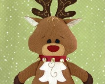 reindeer pattern, sewing pattern, reindeer plushie, Christmas sewing pattern, Reindeer stuffed animal, Rudolph