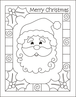 Santa Coloring Page Christmas Pages Sheets
