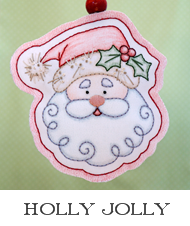 embroidery patterns, embroidery design, Santa Claus, Rudolph, reindeer, handmade ornaments, crayon tinted, embroidered ornaments