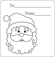 Santa Gift Tags Christmas Claus Coloring