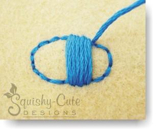 satin stitch, damask stitch