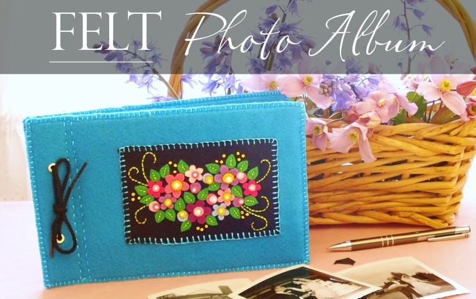felt photo album, free sewing ideas, mother's day gifts idea