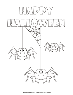 Spider Coloring Pages Free Halloween Sheets