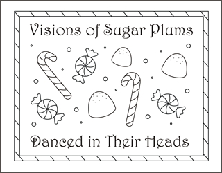 sugar plums coloring pages candy coloring pages christmas candy christmas coloring sheets