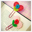 felt heart bookmarks, bookmark pattern, felt heart pattern