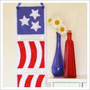 flag wall hanging, patriotic wall hanging, 4th of July pattern, free flag pattern, patriotic applique