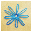 lasy daisy, embroidery tutorial, embroidery