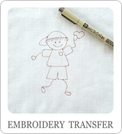 embroidery transfer, how to transfer embroidery