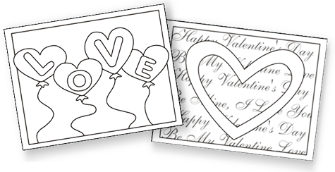 printable valentine cards for kids free printable valentine cards valentine coloring cards free - Cards For Kids To Color