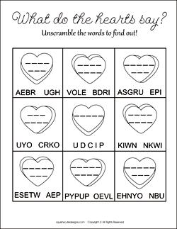 valentines day word scramble, valentine word scramble, word scramble for kids, valentine activities for kids, valentine party games, free printable activities for kids