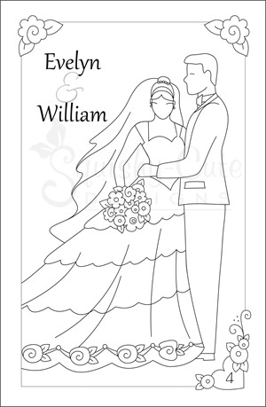 Wedding Coloring Books Wedding Activities for Kids Squishy Cute
