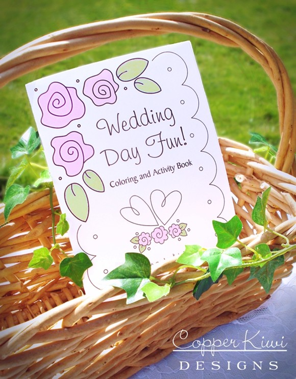 Wedding Coloring Books | Wedding Activities for Kids | Squishy-Cute