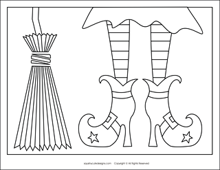 free halloween coloring pages halloween coloring sheets witch coloring pages witches broom - Halloween Free Coloring Pages